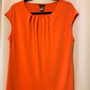 Ann Taylor Tops - Ann Taylor Sleeveless Orange Blouse Sz L